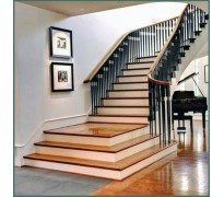 Cầu thang gỗ, len gỗ