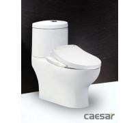 Bồn cầu 2 khối Caesar CD1349 nắp điện tử TAF400H