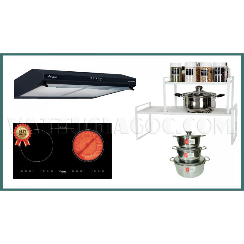 Combo thiết bị bếp Capri CRTN01 4 món