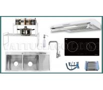 Combo thiết bị bếp Malloca MCTN02 8 món