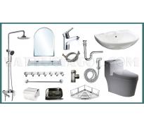 Combo thiết bị vệ sinh GRSY01 14 món