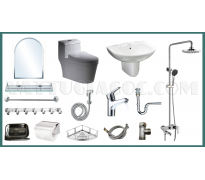 Combo thiết bị vệ sinh GRSY01 15 món