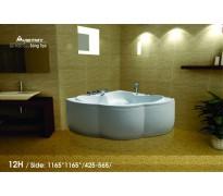 Bồn tắm góc Việt Mỹ 12H acrylic không chân yếm