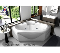 Bồn tắm góc Việt Mỹ 14CL acrylic không chân yếm