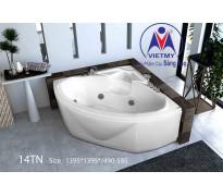 Bồn tắm góc Việt Mỹ 14TN acrylic không chân yếm
