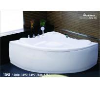 Bồn tắm góc Việt Mỹ 15G acrylic không chân yếm