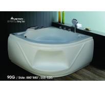 Bồn tắm góc Việt Mỹ 90G acrylic không chân yếm