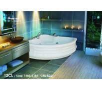 Bồn tắm góc Việt Mỹ 12CL acrylic không chân yếm