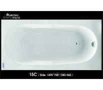 Bồn tắm nằm Việt Mỹ 15C acrylic không chân yếm