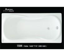 Bồn tắm nằm Việt Mỹ 15M acrylic không chân yếm