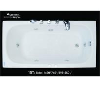 Bồn tắm nằm Việt Mỹ 15T acrylic không chân yếm