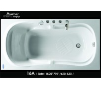 Bồn tắm nằm Việt Mỹ 16A acrylic không chân yếm