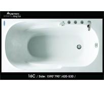 Bồn tắm nằm Việt Mỹ 16c acrylic không chân yếm