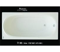Bồn tắm nằm Việt Mỹ 17.80 acrylic không chân yếm