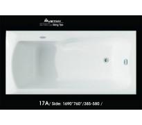 Bồn tắm nằm Việt Mỹ 17A acrylic không chân yếm