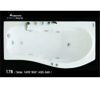 Bồn tắm nằm Việt Mỹ 17B acrylic không chân yếm