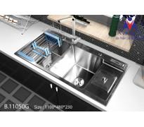 Chậu rửa bát Việt Mỹ B.11050G inox sus304