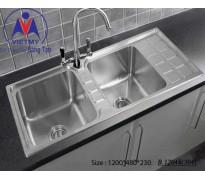 Chậu rửa bát Việt Mỹ B.12048 inox sus304