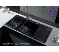 Chậu rửa bát Việt Mỹ ND.10045A inox phủ nano