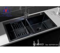 Chậu rửa bát Việt Mỹ ND.8245d inox phủ nano