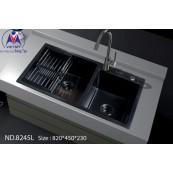 Chậu rửa bát Việt Mỹ ND.8245L inox phủ nano