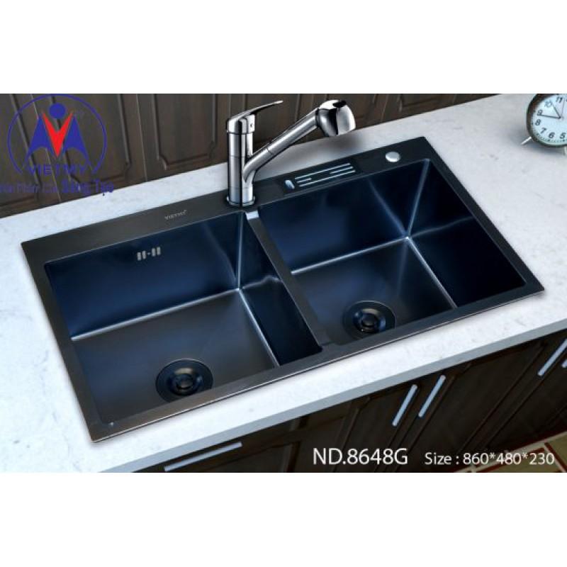 Chậu rửa bát Việt Mỹ ND.8648G inox phủ nano