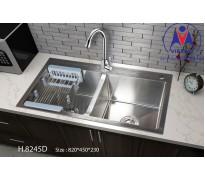 Chậu rửa bát Việt Mỹ H.8245D inox