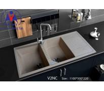 Chậu rửa bát Việt Mỹ V2NC đá nhân tạo