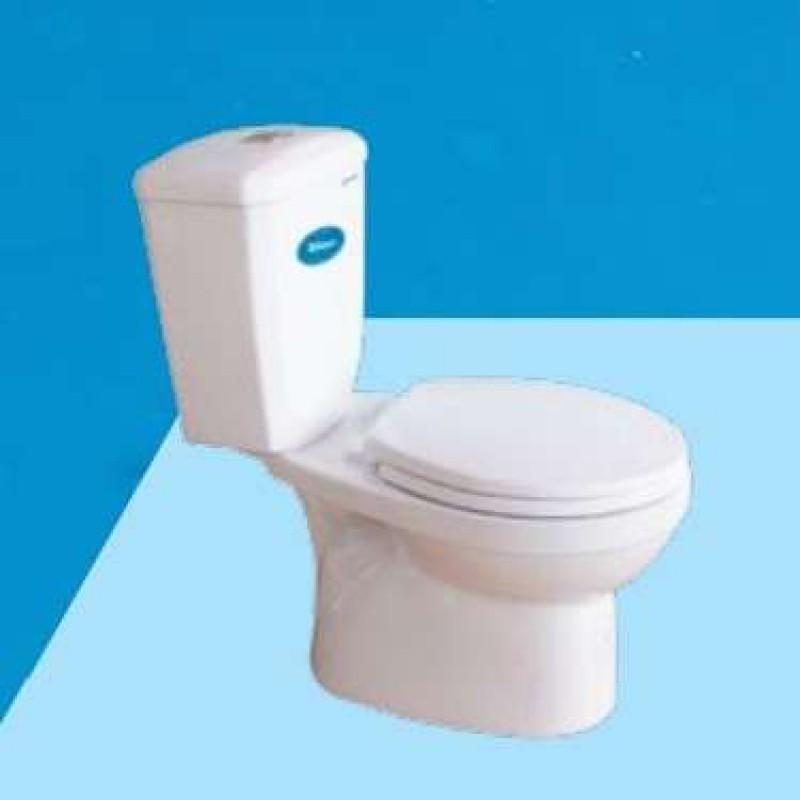 Bồn cầu Thiên Thanh 2 Khối Waves 2 nhấn nắp êm kèm lavabo