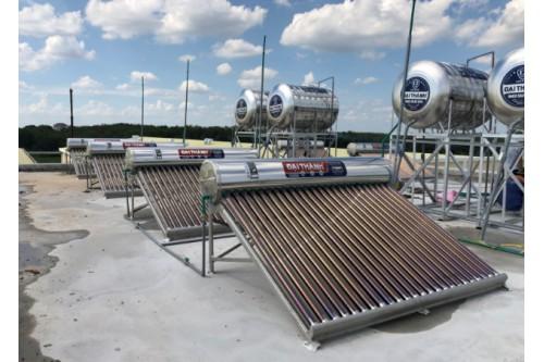 Máy nước nóng mặt trời loại dung tích nào được sử dụng nhiều?