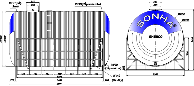 bon-nuoc-inox-son-ha-15.000-lit-ngang-d2200-thong-so-ky-thuat-1-vattugiagoc.com