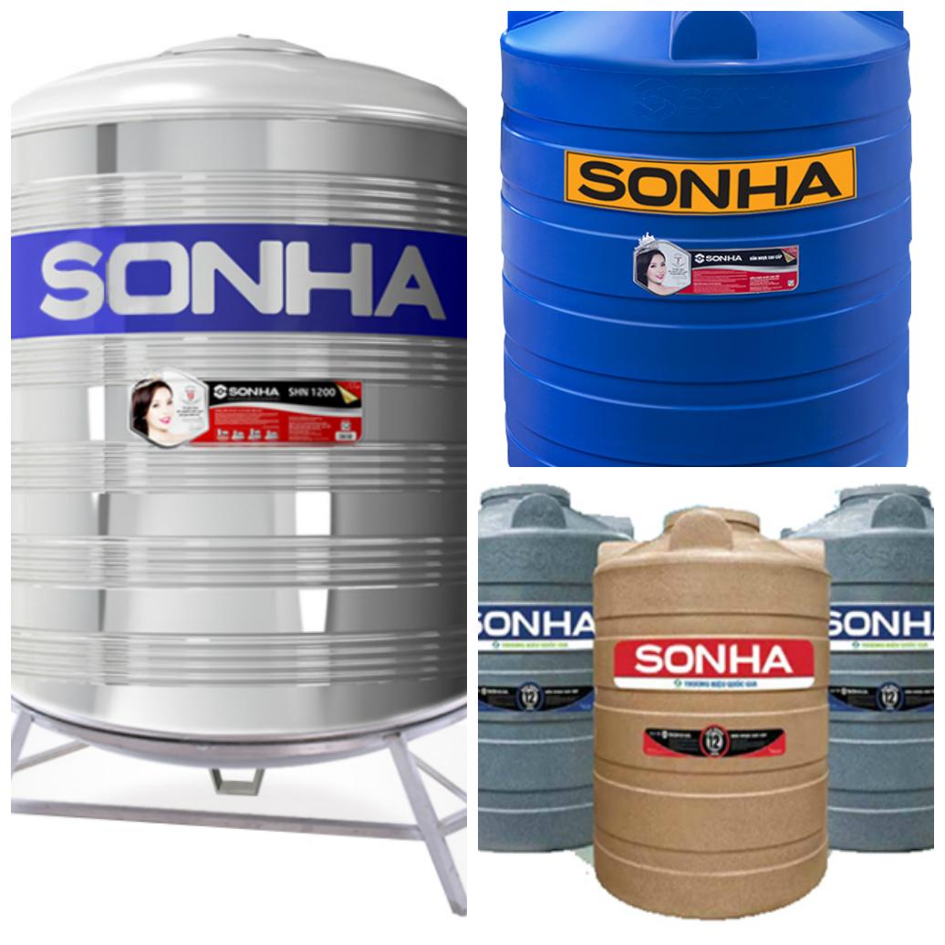bồn nước sơn hà 1500l có 3 chất liệu