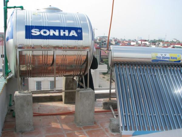 Bồn nước inox Sơn Hà nằm ngang chắc chắn, chất lượng